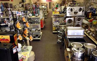 Skelton's Inc. Foodservice Equipment store full of restaurant equipment